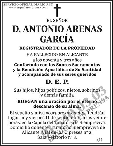 Antonio Arenas García